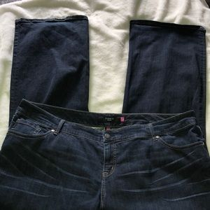 Torrid jeans size 22R cute snap back pockets